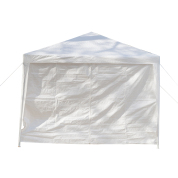 3X6m Six Sides Two Doors Waterproof Tent with Spiral Tubes - White
