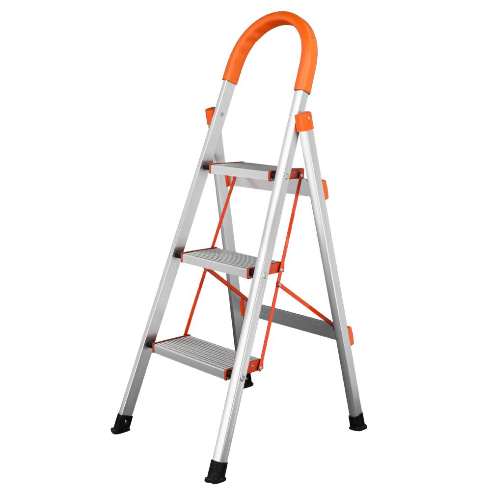 3步D型家用铝梯