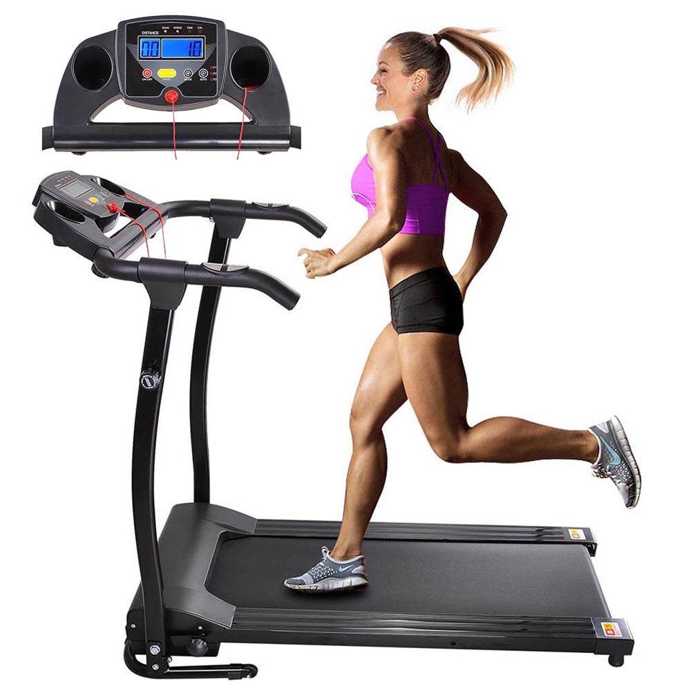1100 Watts Foldable Electric Treadmill Black