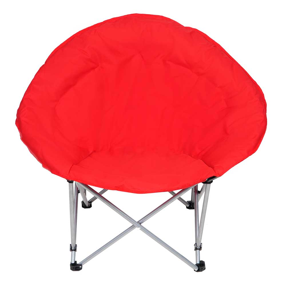 Oversize Foldable Padded Moon Chair Red