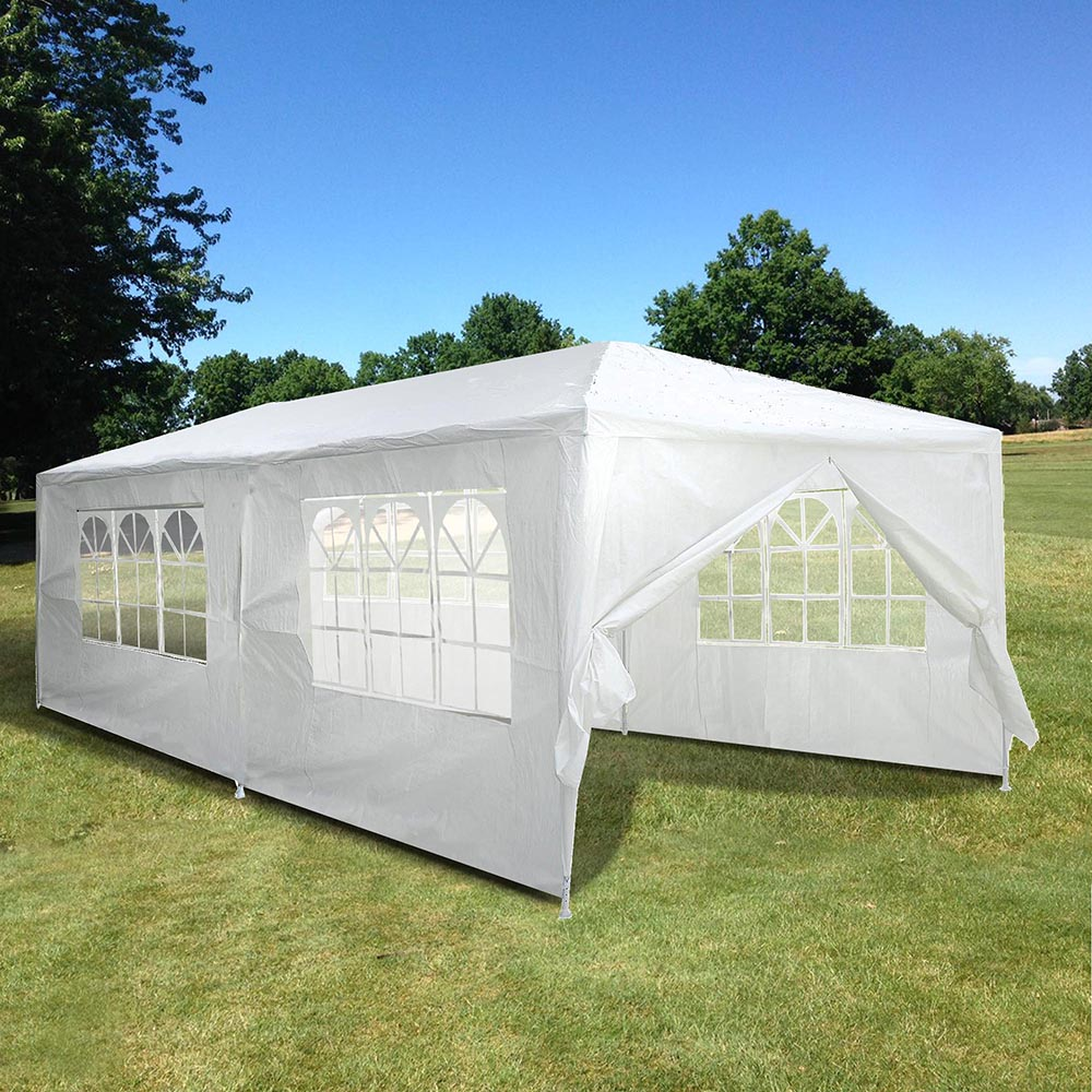 10 Ft. x 20 Ft. Outdoor Party Tent with 6 Sidewalls White