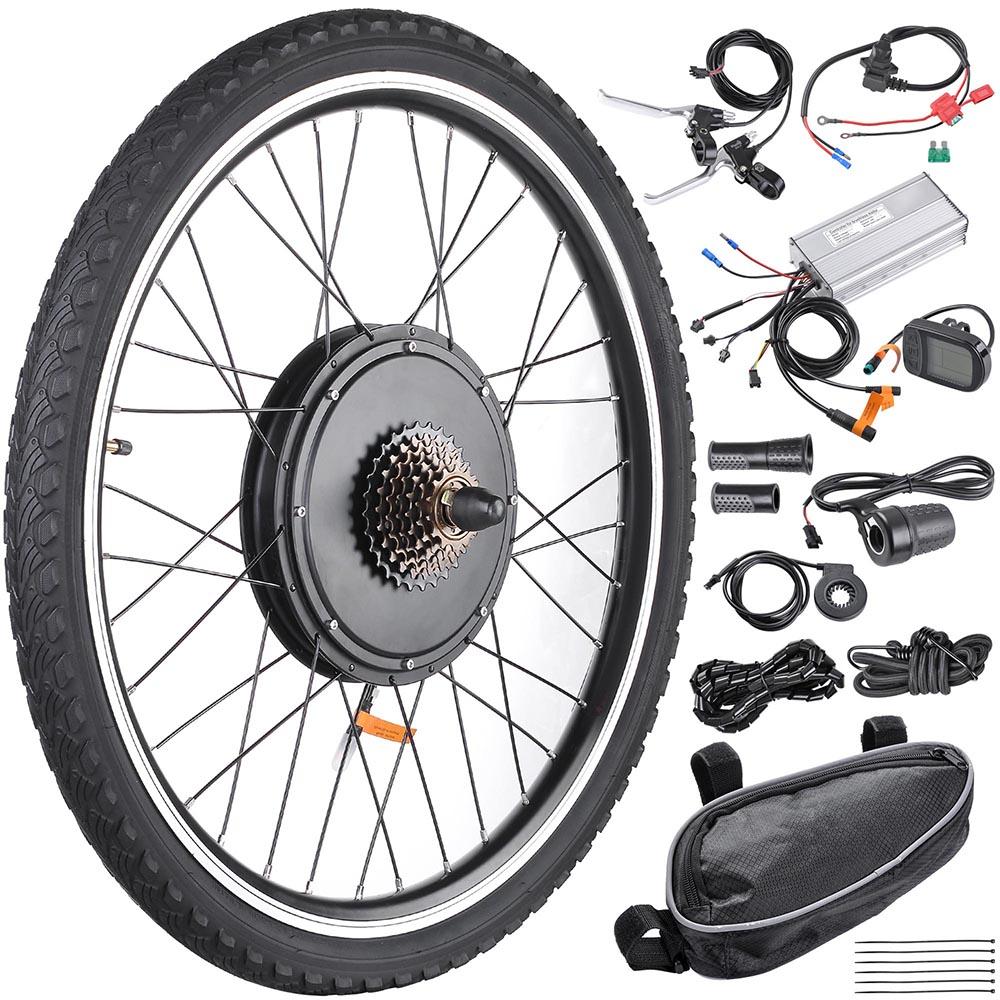 26 In 48 Volt 1000 Watts Electric Bike Motor Conversion Kit - Rear Wheel