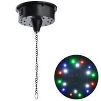 Mirror Disco Ball Rotating Motor with 4 Color 18 LEDs  6 Prm