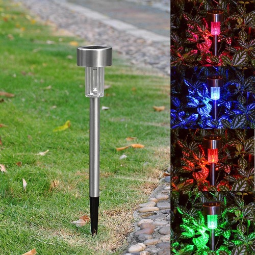 6x Multi-color Solar Garden Light SS