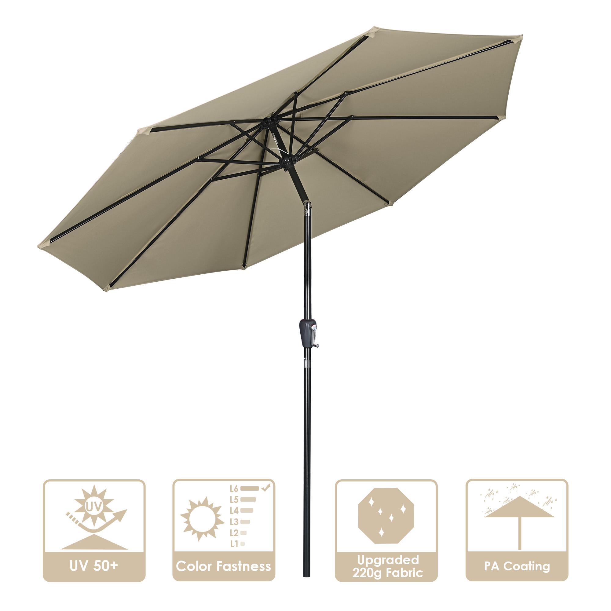9FT 铝杆铁骨伞,色织布