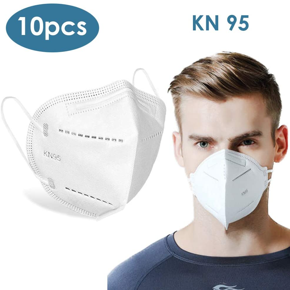 10PCS Breathing Non-Woven Fabric, meltblown Filter Safety Earloop for Protection from Dust