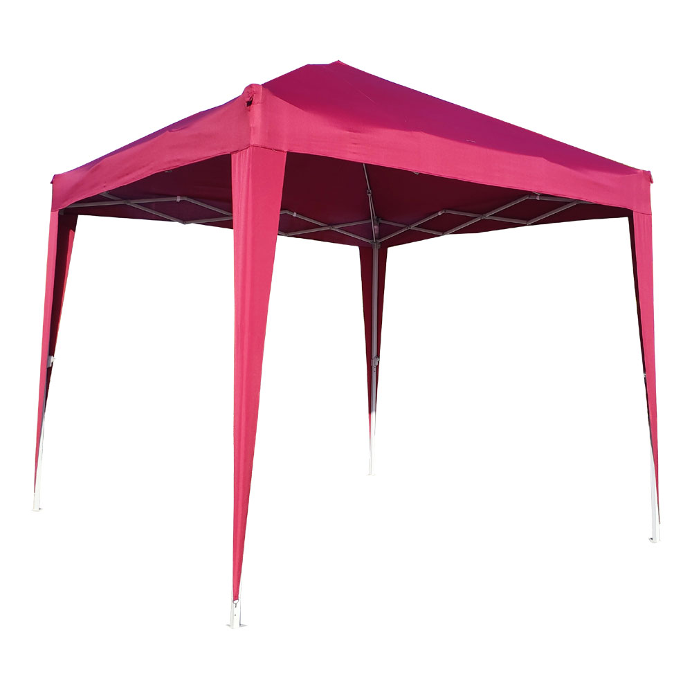 Outdoor Portable Lightweight Folding Instant Pop Up Gazebo Canopy Shade Tent w/Adjustable Height, Wind Vent, Carrying Bag, 9x9ft - RED
