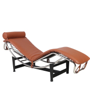 LC4 Modern Lounge Chair - Brown