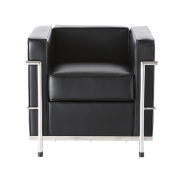 LC2 Single Seat Sofa- Black