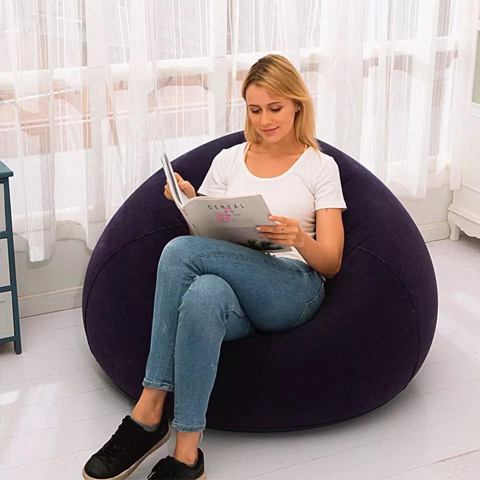 大型懒人充气沙发 - 紫色