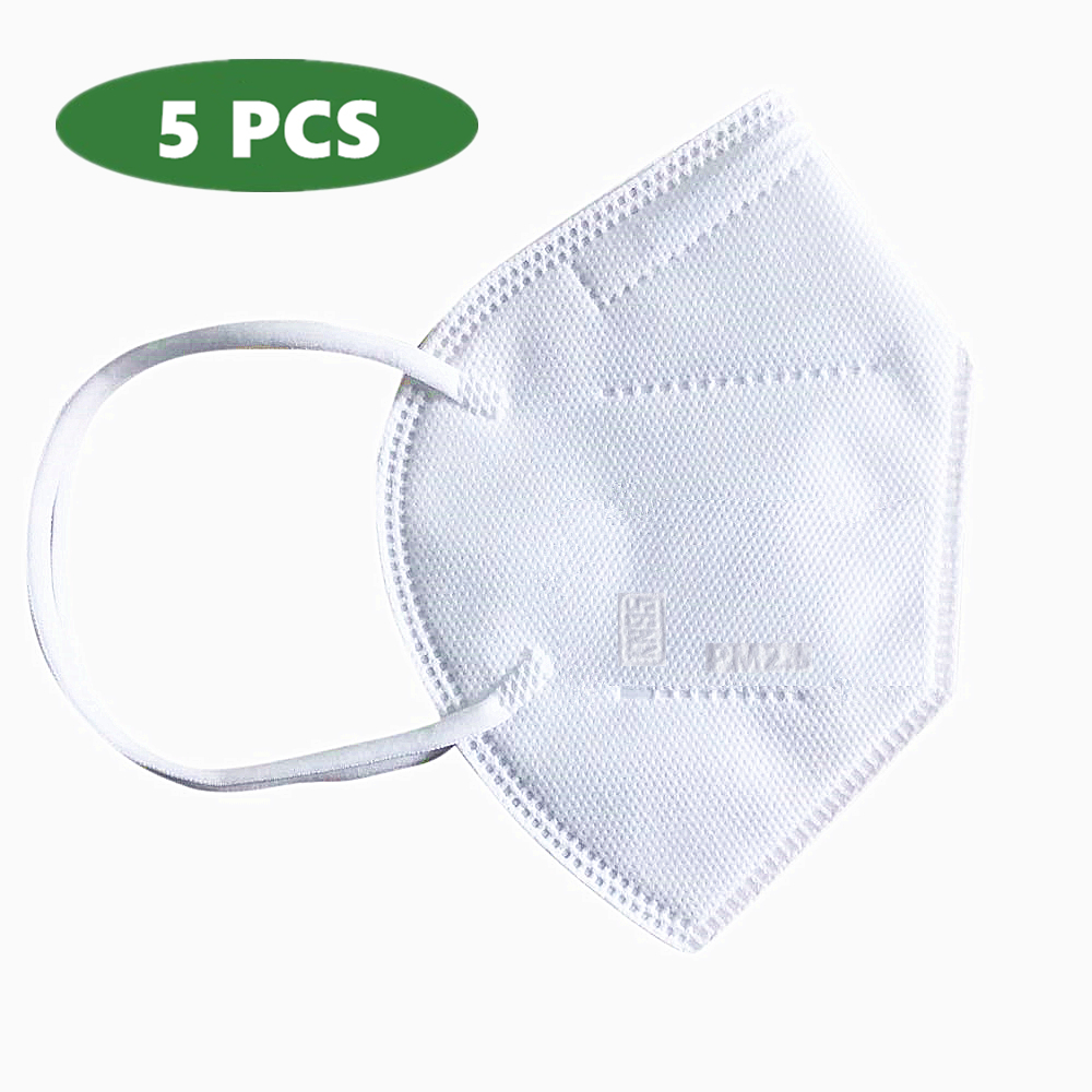 5 pcs Cilvilian Protective Masks 4-ply, Anti-dust with Earloops Nose Clip for Adult