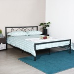 KHAOS-DOUBLE-BED-BK Double Metal Bed Frame - Black