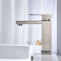 Bathroom basin faucet - Brushed
