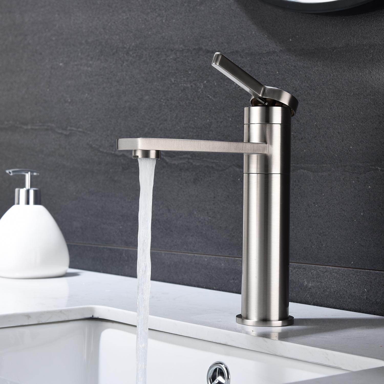 不锈钢浴室面盆水龙头