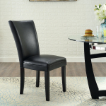 【Bulk purchases】2pcs Dining chair black pu material