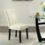 【Bulk purchases】2pcs Dining chair white pu material