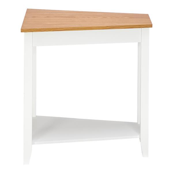 简单而不规则的沙发桌,淡胡桃色的白色
