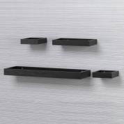1Set / 4Pcs Floating Shelf Wall Mounted - Black