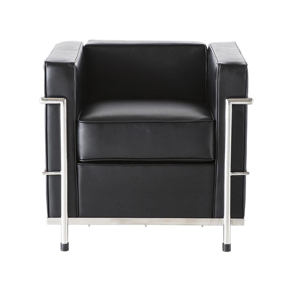 LC2 Single Seat Sofa- Black