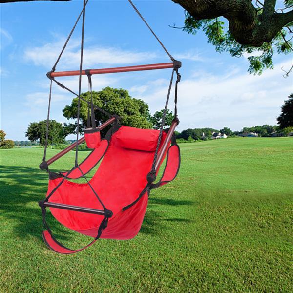 设备齐全的S形挂钩高强度组合式悬挂座椅 - 红色