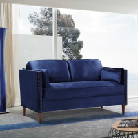 布艺沙发小户型沙发小客厅二人座沙发卧室家用沙发 - 蓝色