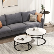 """Modern Nesting coffee table Black color frame with marble top-32"""""""