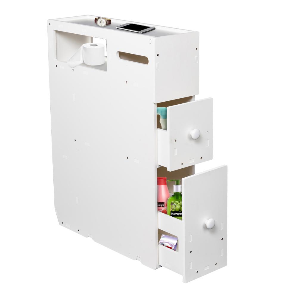 高品质PVC材质可移动浴室卫生间橱柜抽屉