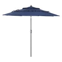 9英尺3层遮阳伞中柱伞庭院户外伞太阳伞花园伞钓鱼伞罗马伞沙滩伞