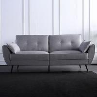 简洁时尚的实木框架三座位沙发
