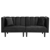 当代天鹅绒布艺沙发客厅卧室可折叠式沙发床