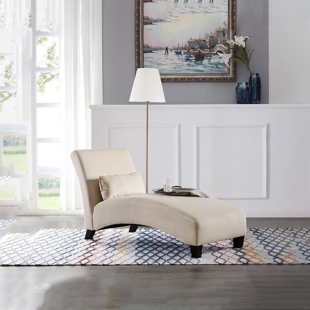 贵妃椅 躺椅 wayfair爆款沙发躺椅休闲椅 - 米色