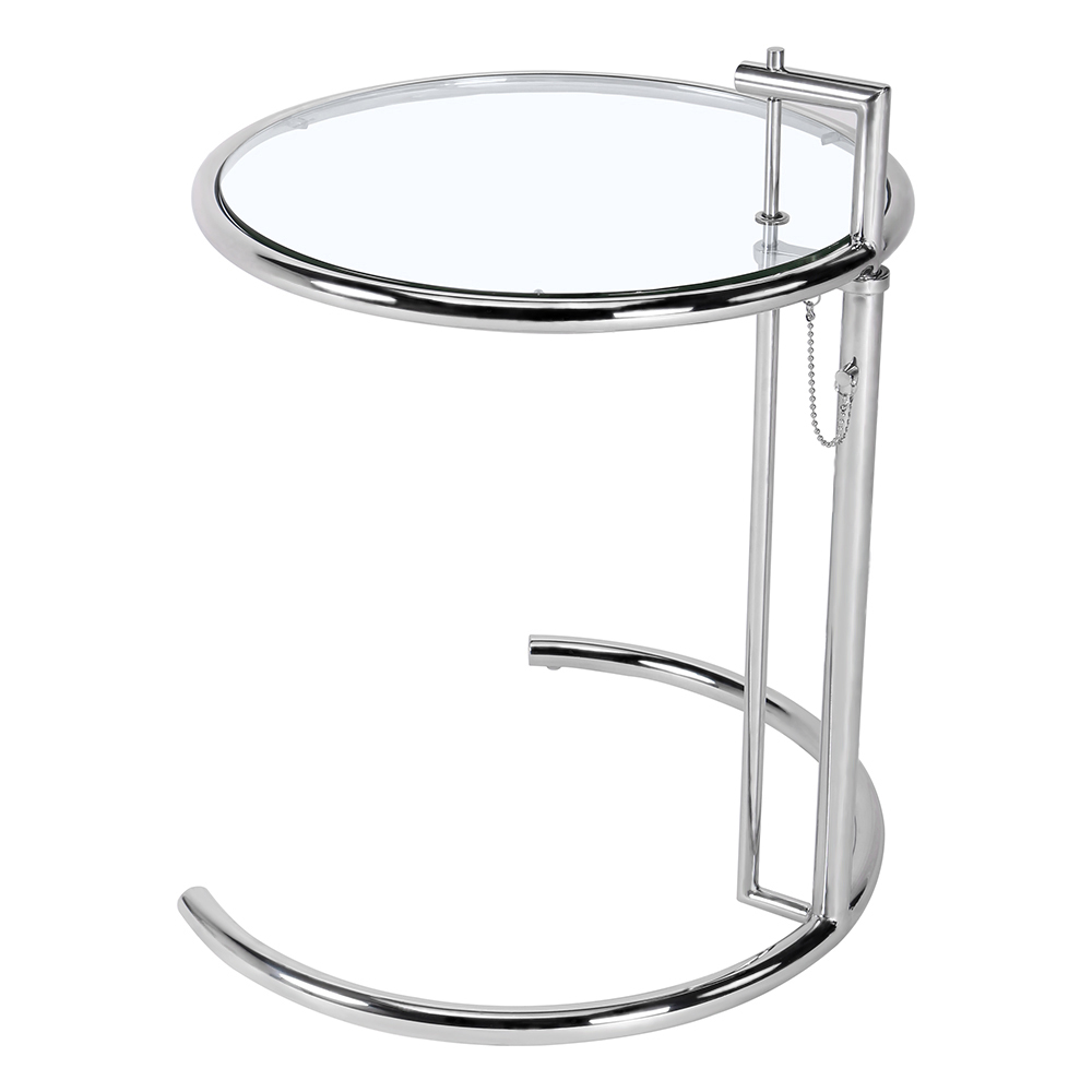不锈钢升降茶几设计师简约现代创意钢化玻璃角几