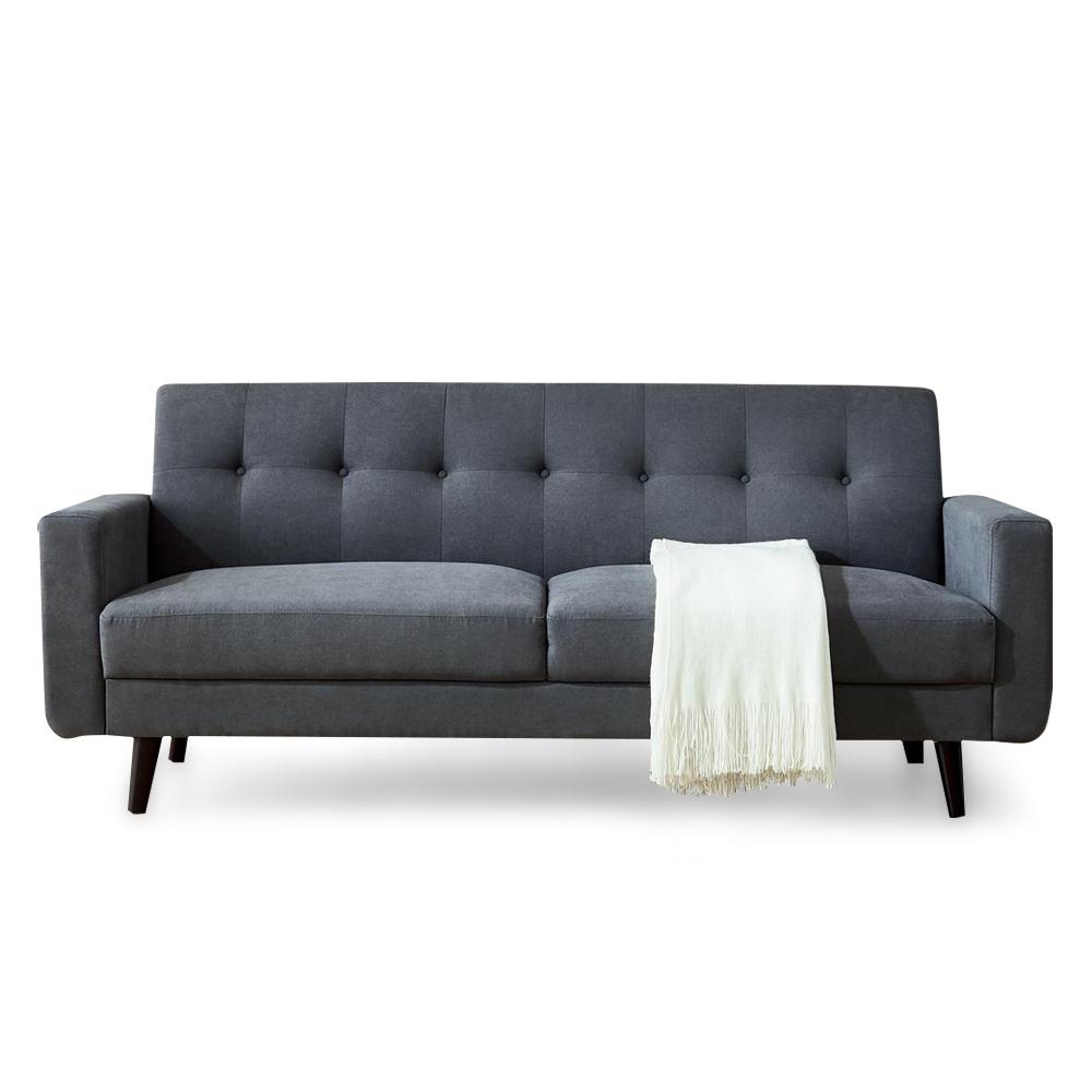 简约风客厅卧室沙发北欧现代布艺沙发精品布艺沙发 - 灰色