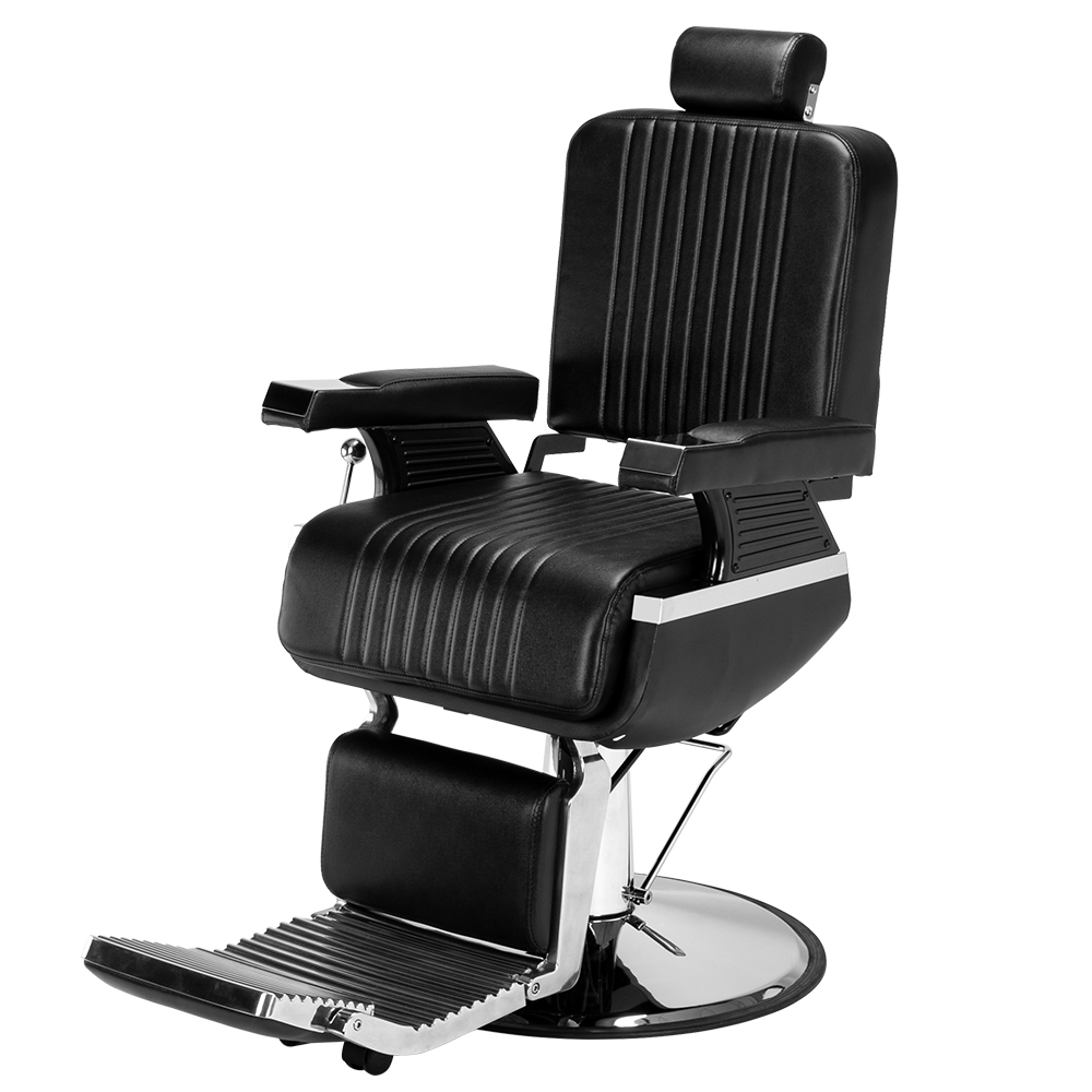 【CS】男士专用美发椅高端可放倒理容椅 黑色HC222B