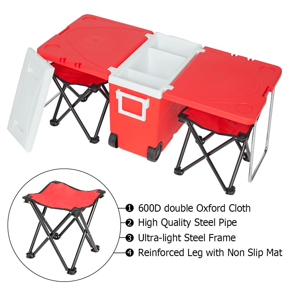 凳子升级款 户外野餐多功能折叠保温箱