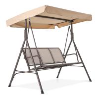 3 Person Outdoor Patio Swing,steel frame textlene seats Steel Frame swing chair