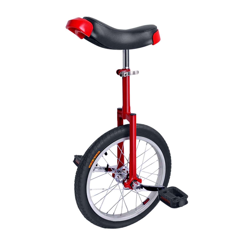 18英寸独轮车自行车竞技单轮车加厚铝合金圈平衡车 - 红色