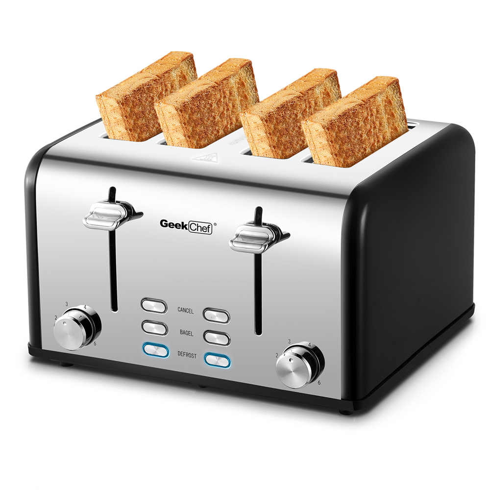 【此商品不能在亚马逊上出售】不锈钢超宽槽烤面包机
