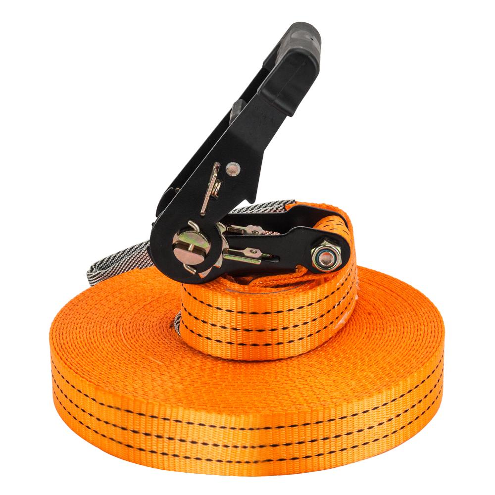 【SK】加长款18米走扁带(扁带2条/棘轮2个/树衣2个/平衡带/护套) 橙色