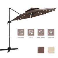 10英尺360度LED铝聚脂悬臂斜挂市场天井伞