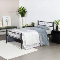 INS北欧风中小户型卧房客厅单人铁架床