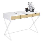 三抽屉X形腿设计家用电脑桌
