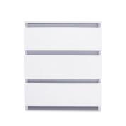 现代多功能床头柜侧边茶几床头柜储物架,带抽屉,用于客厅卧室,钛白色