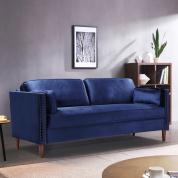简约现代风客厅卧室沙发三人座桉木框架