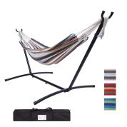 双人经典吊床-配粉末涂层钢框架,承重450磅,配便携袋