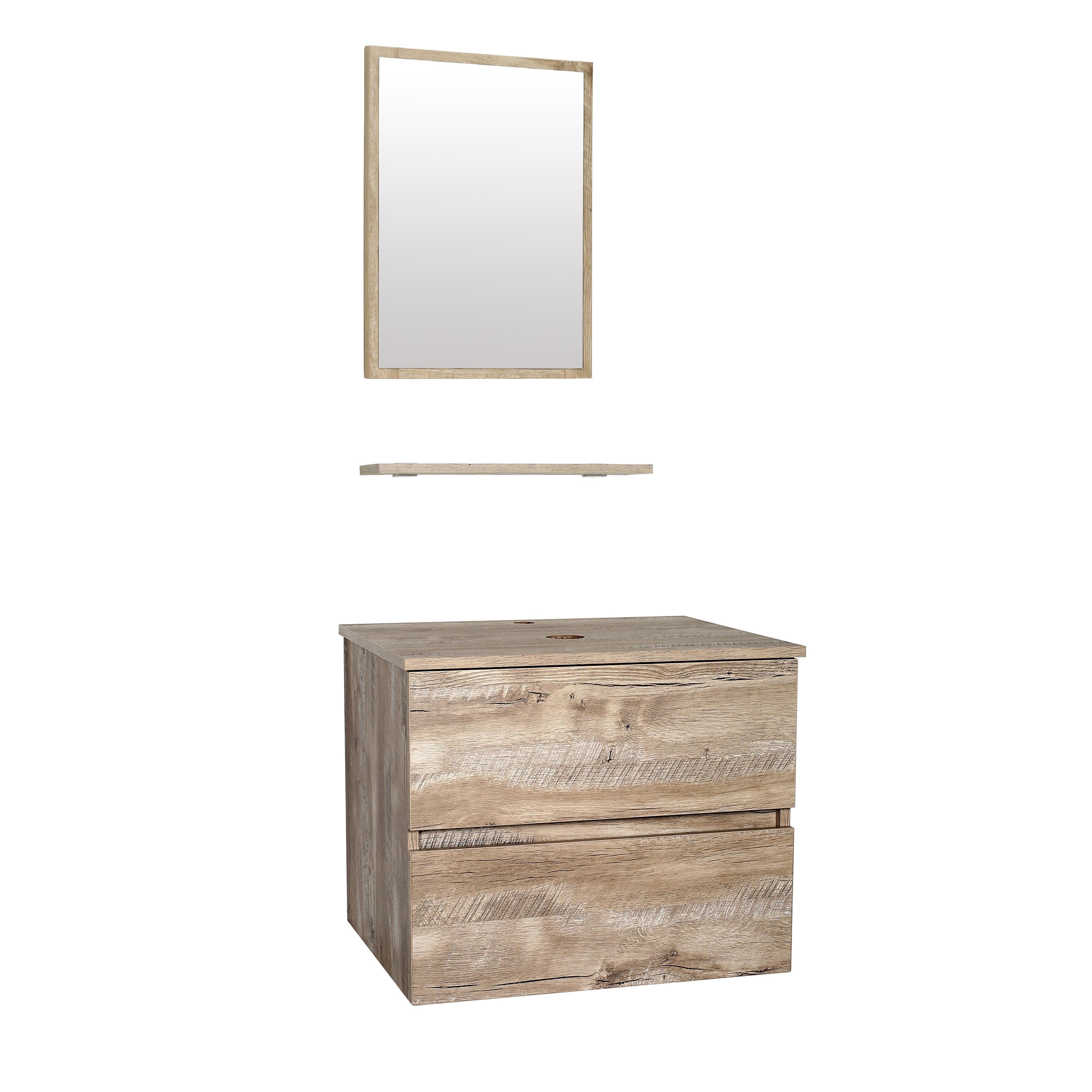 浴室梳妆台壁柜木纹色