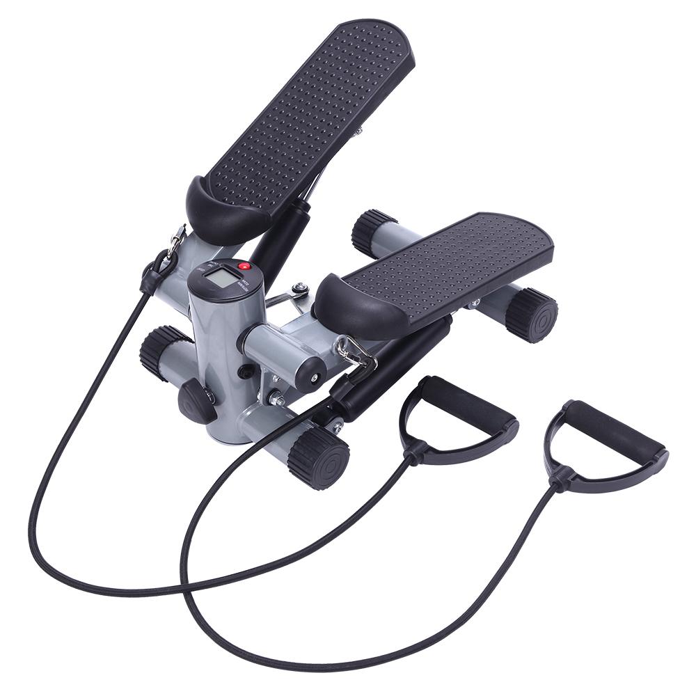 【JZJ】S025 家用迷你踏步机腿部训练器械 银色 带拉绳