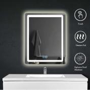 【支持自提或配送】带照明化妆的LED浴室壁镜/化妆镜/防雾矩形65* 80cm
