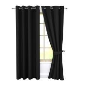 卧室索环2面板的成套窗帘的遮光窗帘隔热的客厅窗帘