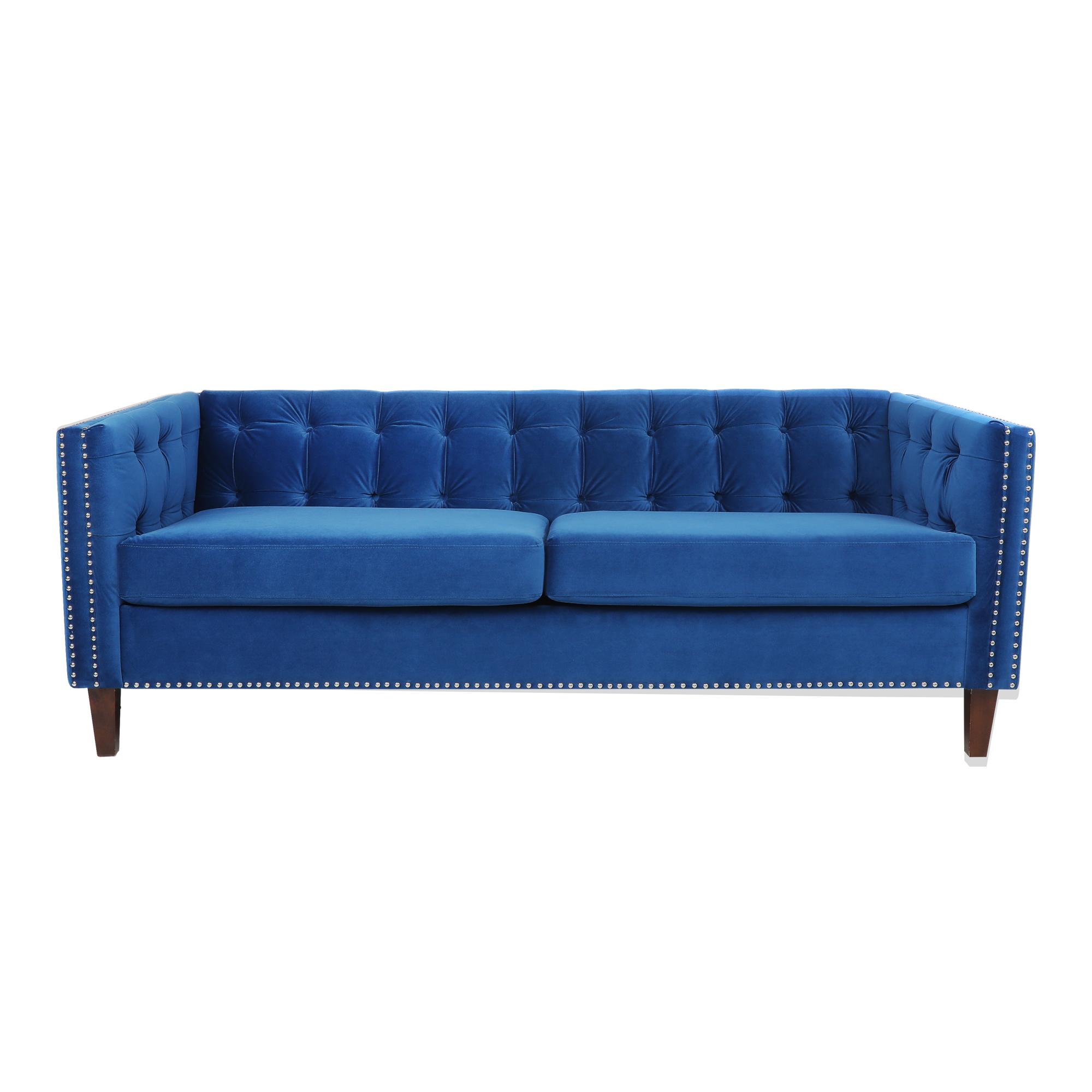 天鹅绒深蓝色好莱坞丽晶豪华外观沙发